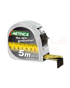 METRICA RULLAMITTA 5M/25mm UUSI ASTEIKKO