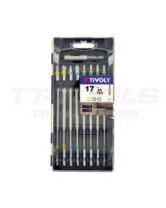 TIVOLY BITSISARJA PH/PZ/TORX 25mm+120mm