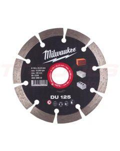 MILWAUKEE SEGMENTTI TIMANTTILAIKKA DU 125x22,2mm