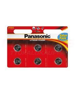 PANASONIC PARISTO LITHIUM 3V CR2032EL/6 KPL